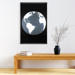 Magnetic 20 x 30 - Earth satellite view
