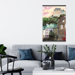 Magnetic 20 x 30 - Château frontenac in the petit champlain