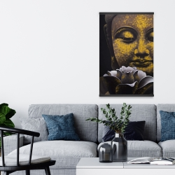 Magnetic 20 x 30 - The eternal smile of buddha and his lotus
