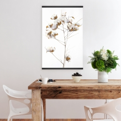 Magnetic 20 x 30 - Cotton flowers branch