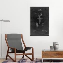 Magnetic 20 x 30 - Black blueprint of golf tee