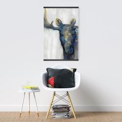 Magnetic 20 x 30 - Blue moose