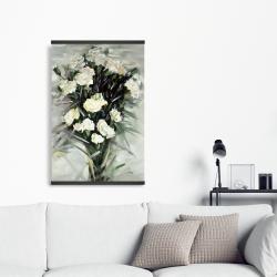 Magnetic 20 x 30 - Lisianthus white bouquet