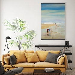 Magnetic 20 x 30 - Children at the beach