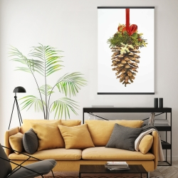 Magnetic 20 x 30 - Christmas pine cone