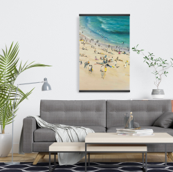 Magnetic 20 x 30 - Summer crowd at the beach