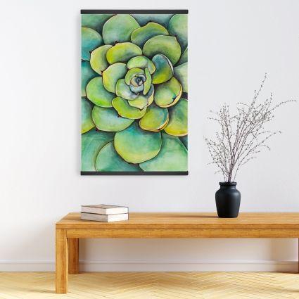 Watercolor succulent plant