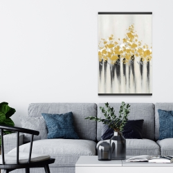 Magnetic 20 x 30 - Abstract gold flowers
