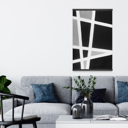 Magnetic 20 x 30 - Black and white abstract lines