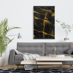 Magnetic 20 x 30 - Black and gold marble texture