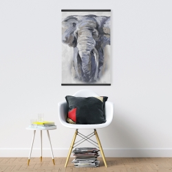 Magnetic 20 x 30 - Pastel blue elephant