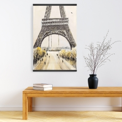 Magnetic 20 x 30 - Eiffel tower with flying birds