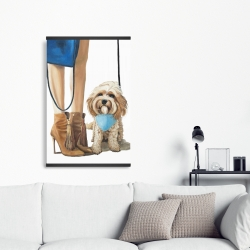 Magnetic 20 x 30 - Fashionable cavoodle dog