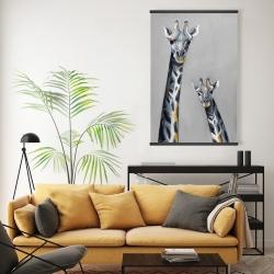 Magnetic 20 x 30 - Steel blue giraffe