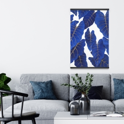 Magnetic 20 x 30 - Tropical abstract blue leaves