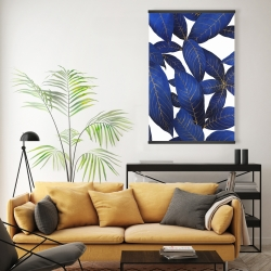 Magnetic 20 x 30 - Abstract modern blue leaves