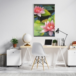 Magnetic 20 x 30 - Water lilies and lotus flowers