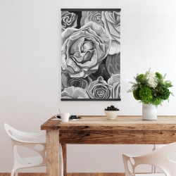 Magnetic 20 x 30 - Grayscale roses