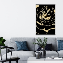 Magnetic 20 x 30 - Cutout black rose