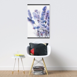 Magnetic 20 x 30 - Watercolor lavender flowers