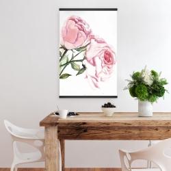Magnetic 20 x 30 - Watercolor pink roses