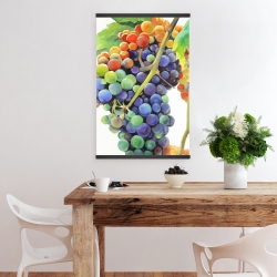 Magnetic 20 x 30 - Colorful bunch of grapes