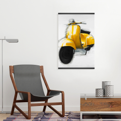 Magnetic 20 x 30 - Yellow italian scooter