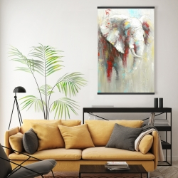 Magnetic 20 x 30 - Abstract elephant with paint splash
