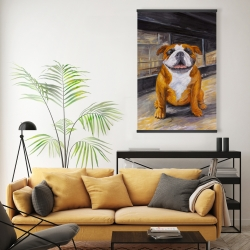 Magnetic 20 x 30 - Smiling bulldog