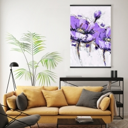 Magnetic 20 x 30 - Purple anemone flowers