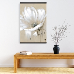 Magnetic 20 x 30 - White abstract wild flower