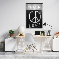 Magnetic 20 x 30 - Peace love monochrome