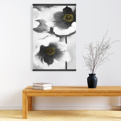 Magnetic 20 x 30 - Black and white flowers