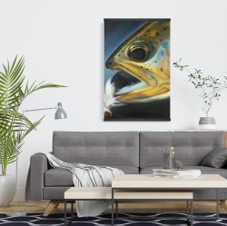 Magnetic 20 x 30 - Golden trout with fly fishing flie