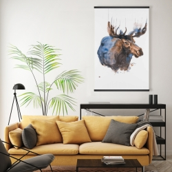 Magnetic 20 x 30 - Abstract blue moose