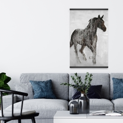 Magnetic 20 x 30 - Abstract brown horse