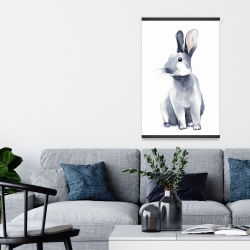 Magnetic 20 x 30 - Gray curious rabbit