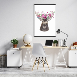 Magnetic 20 x 30 - Deer head with flowers
