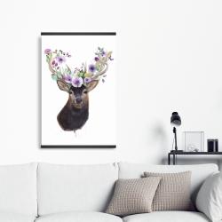 Magnetic 20 x 30 - Roe deer head with flowers