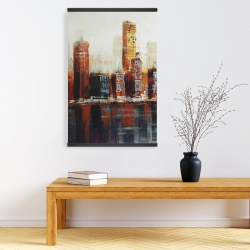 Magnetic 20 x 30 - Abstract red cityscape