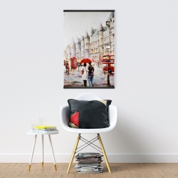 Magnetic 20 x 30 - European street by a rainy day