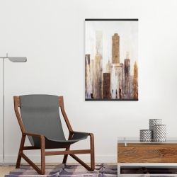 Magnetic 20 x 30 - Abstract earthy tones city