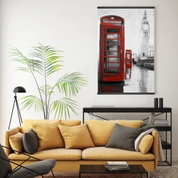 Magnetic 20 x 30 - Red phonebooth with the big ben
