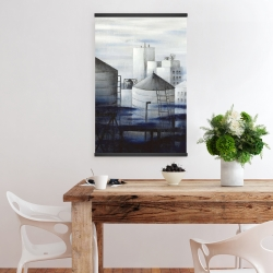 Magnetic 20 x 30 - Gray city with blue clouds