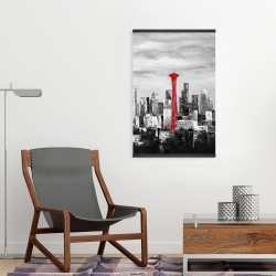 Magnetic 20 x 30 - Space needle in red