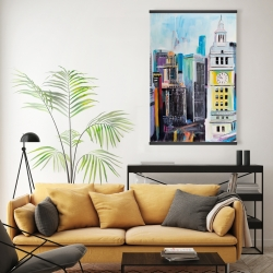 Magnetic 20 x 30 - Colorful cityscape of manhattan