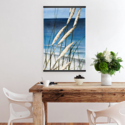 Magnetic 20 x 30 - Wild herbs in the wind on at the beach