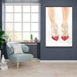 Magnetic 28 x 42 - Red studded high heels