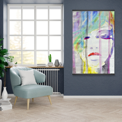 Magnetic 28 x 42 - Abstract colorful portrait