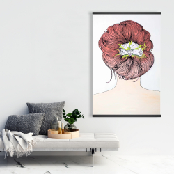 Magnetic 28 x 42 - Lady with flowers in her hair